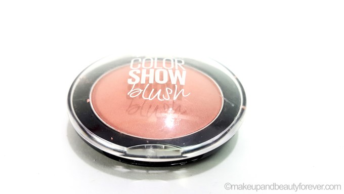 Maybelline ColorShow Blush Creamy Cinnamon Review Swatch