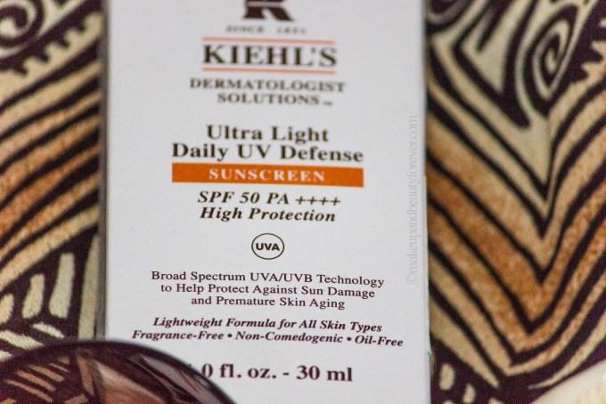 kiehls ultras light sunscreen with high SPF 50
