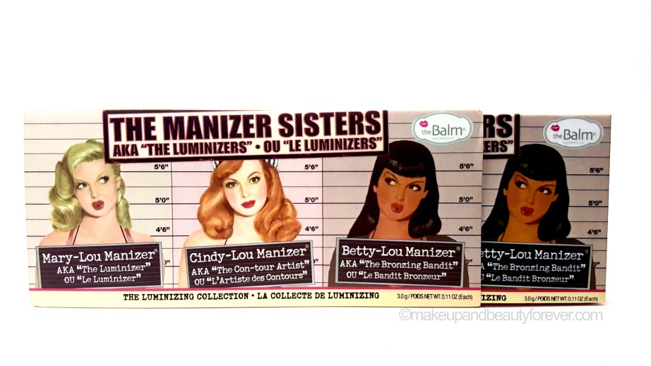 theBalm Manizer Sisters Mary Cindy Betty Lou Manizer Palette Review India