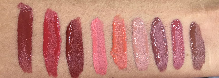 All Chambor Liquid Lipstick swatches Retro Rouge 434 Oh My Rouge 435 Savage 436 Rouge Grenadine 461 Orangerie 462 Brune Jungle 481 Coffee Date 482 Rose Boudoir 483 Truffle 484