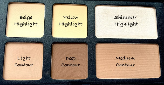 Freedom Pro Strobe Highlight and Contour Palette With Brush Review Swatches close up