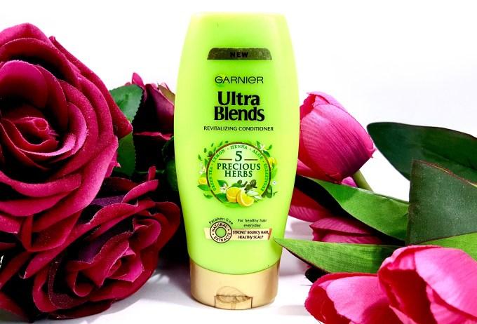 Garnier Ultra Blends 5 Precious Herbs Conditioner Review mbf beauty blog