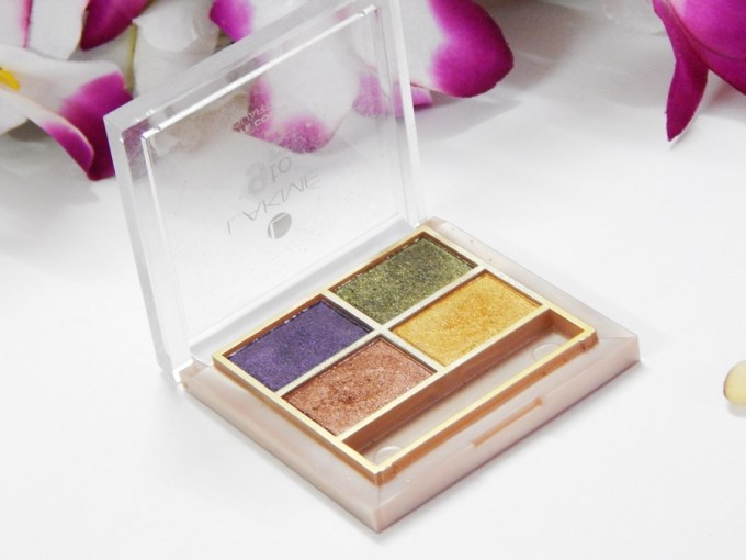 Lakme 9 to 5 Eye Quartet Eyeshadow Palette Tanjore Rush Review Swatches mbf