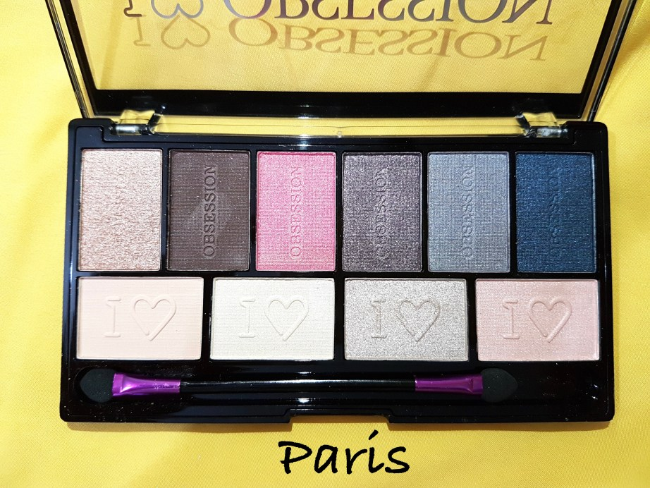 Makeup Revolution I ♡ MAKEUP I ♡ OBSESSION Eye Shadow Palette Paris Review Swatches