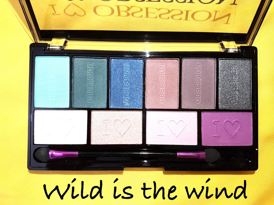 Makeup Revolution I ♡ MAKEUP I ♡ OBSESSION Eye Shadow Palette Wild is the Wind Review Swatches