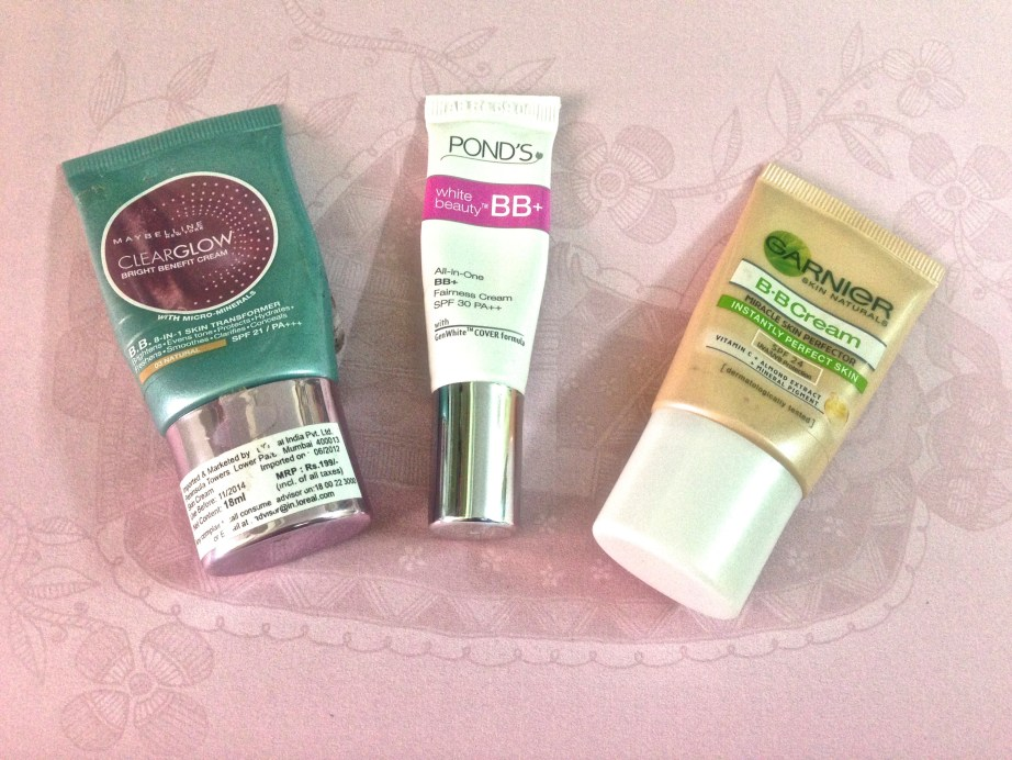Maybelline Ponds Garnier BB Creams Review and Comparison Which one to buy?