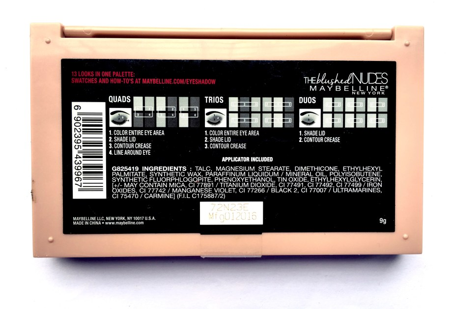 Maybelline The Blushed Nudes Palette Review Swatches Makeup back
