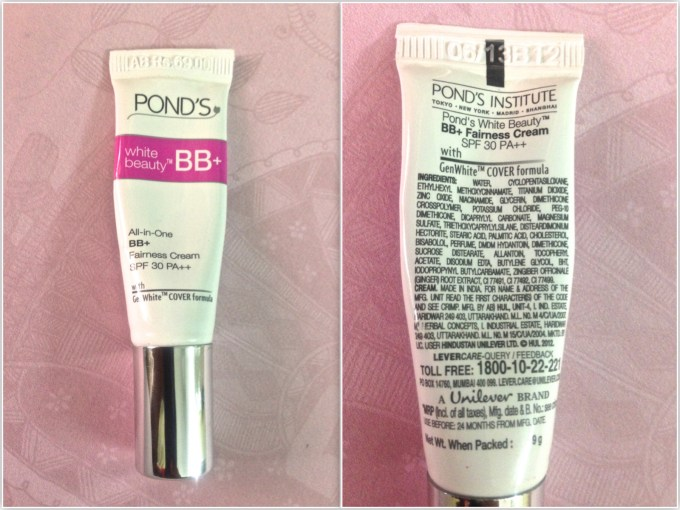 Pond's White Beauty BB+ Fairness Cream Review Swatches comprision