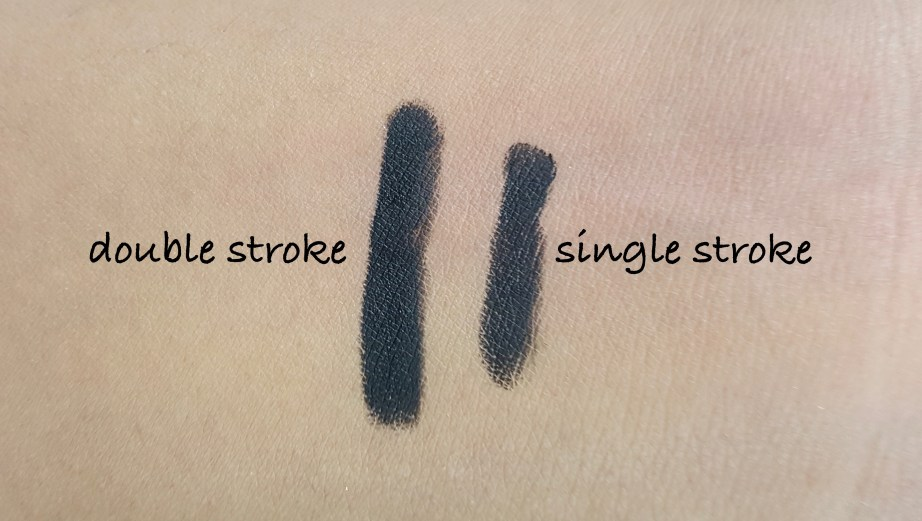 SUGAR Stroke Of Genius Heavy Duty Kohl 01 Back To Black Review Swatches on hand