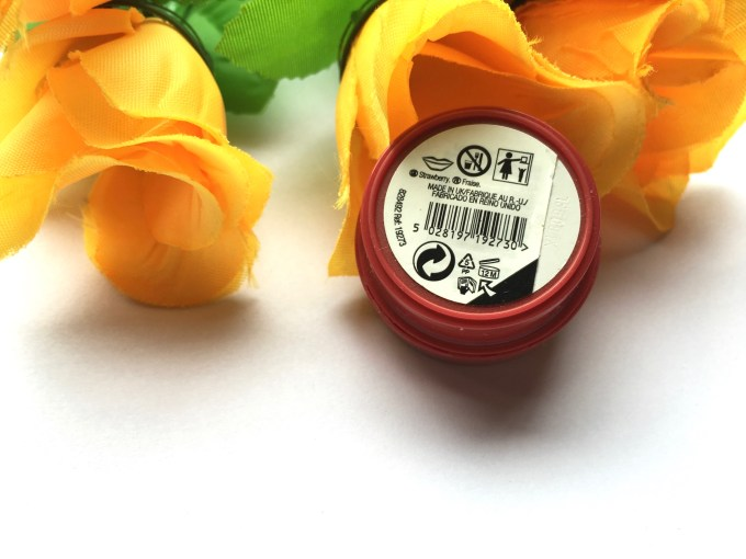 The Body Shop Strawberry Lip Butter Review back