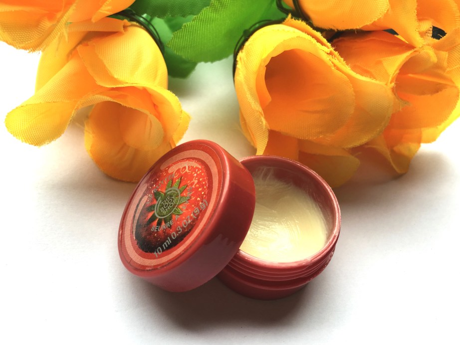 The Body Shop Strawberry Lip Butter Review makeup beauty blog