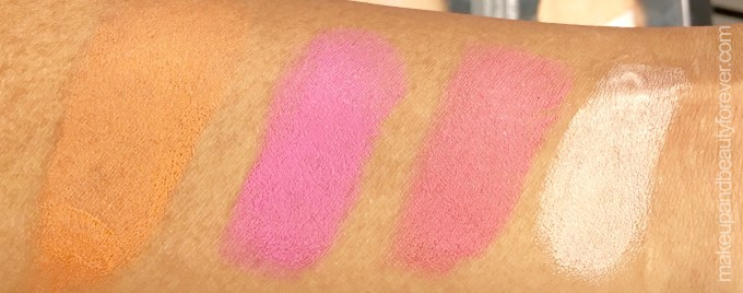 All Day Colorbar Lip & Cheek Color Blush Sticks Shades Review Swatches Orange Amber Pink Sugar Coral Rose Gold