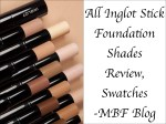 All Inglot Stick Foundation Shades Review, Swatches