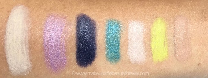 All MAC Pro Longwear Waterproof Colour Stick Eye Shadows Shades Review Swatches Tabby Sweet Viola Midnight Shadows Ever Evergreen At Beach Madly Sunny Sand Bar