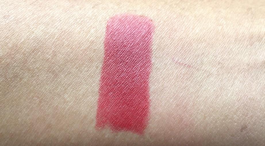 Chanel Rouge Allure Velvet Luminous Matte Lip Colour 58 Rouge Vie Review Swatches on hand