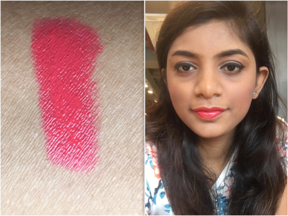 Faces Ultime Pro Creme Lip Crayon Invincible 04 Review Swatches with makeup