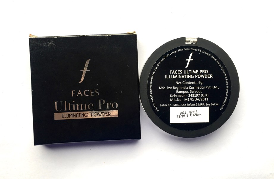 Faces Ultime Pro Illuminating Powder Highlighter Review price