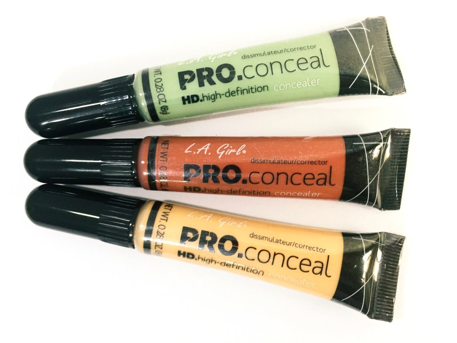 L A Girl Pro Conceal HD Orange Green Yellow Correctors Review Swatches Demo