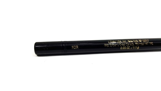 L'Oreal Infallible Silkissime Eyeliner Black Noir Review Swatches 2