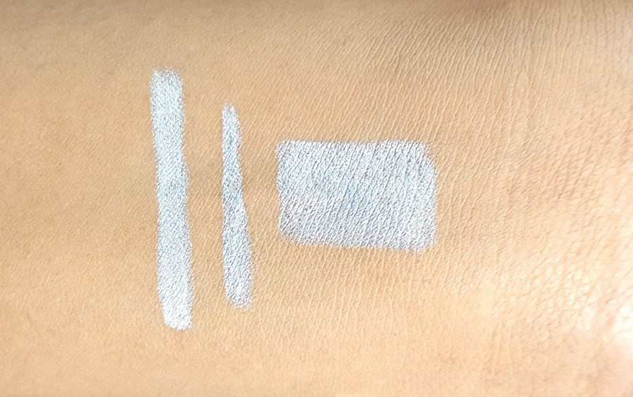 L'Oreal Infallible Silkissime Eyeliner Silver Argente Review Swatches hand