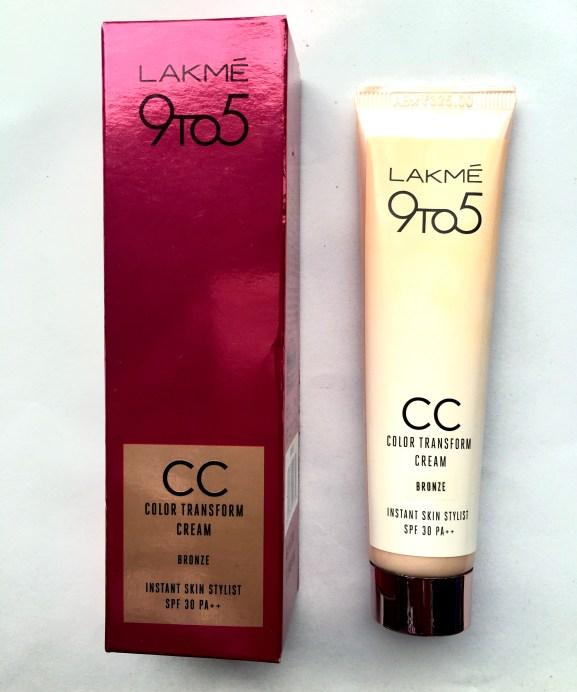Lakme 9 5 Color Transform CC Cream Review Swatches