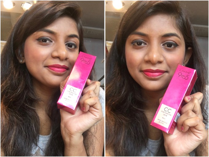 Lakme 9 To 5 Color Transform CC Cream Review Swatches makeup look