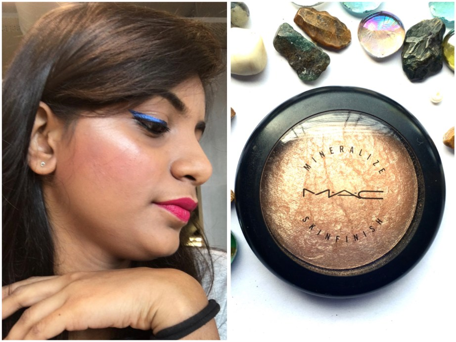 MAC Soft & Gentle Mineralize Skinfinish Highlighter Review Swatches on face