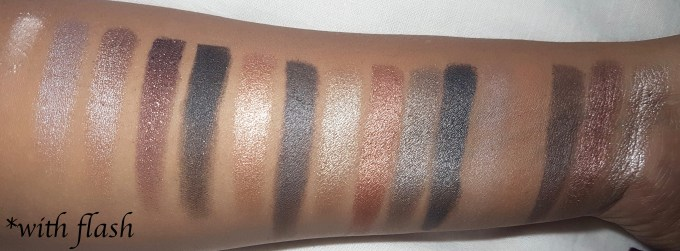 Makeup Revolution I Heart Makeup Naked Underneath Eyeshadow Palette Review Swatches with flash