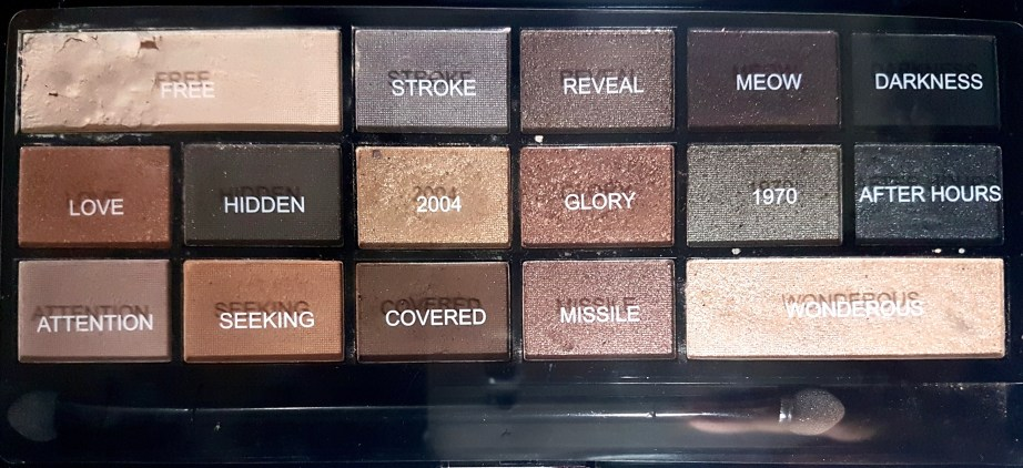 Makeup Revolution I Heart Makeup Naked Underneath Eyeshadow Palette with names Review Swatches