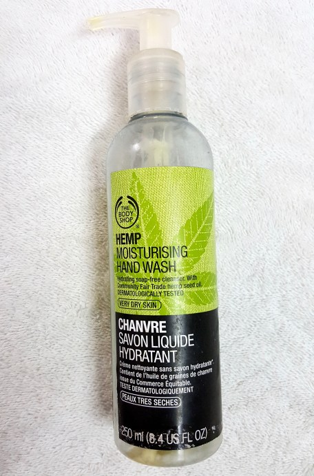 The Body Shop Hemp Moisturizing Hand Wash Review bottle