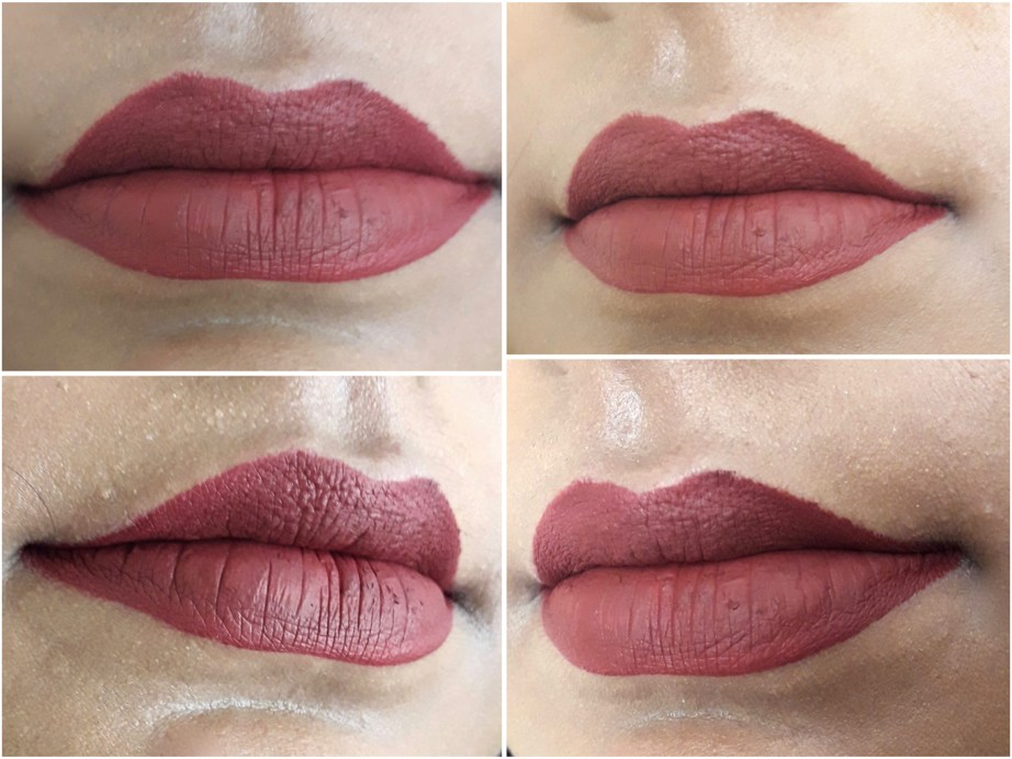 BH Cosmetics Matte Liquid Lipstick Lust Review Swatches brick red brown on lips