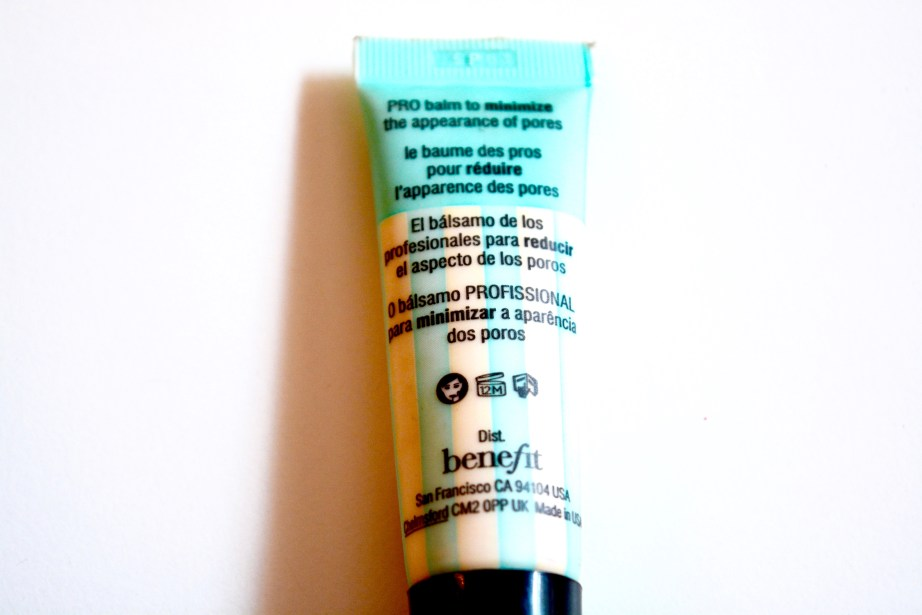 Benefit the POREfessional Makeup Primer Review Demo info