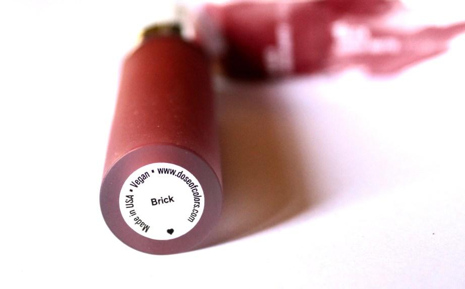 Dose of Colors Matte Liquid Lipstick Brick Review Swatches Blog MBF