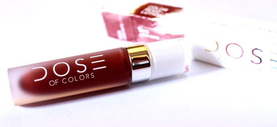 Dose of Colors Matte Liquid Lipstick Brick Review Swatches MBF