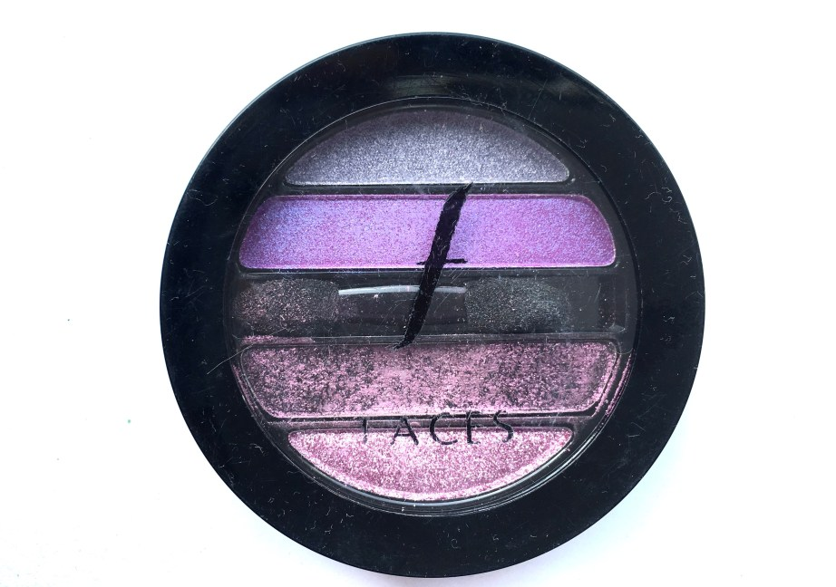 Faces I Shine Eye Shadow Quartet Purple Review Swatches