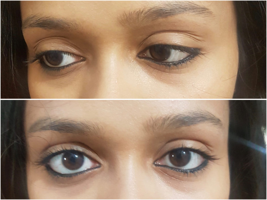 Faces Magneteyes Kajal Review Swatches on eyes