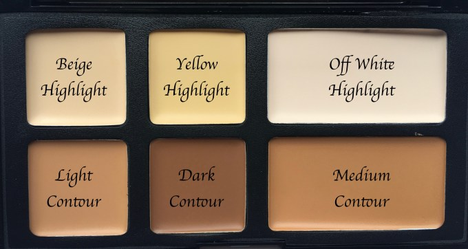 Freedom Pro Cream Strobe Palette with Brush Review Swatches shade names