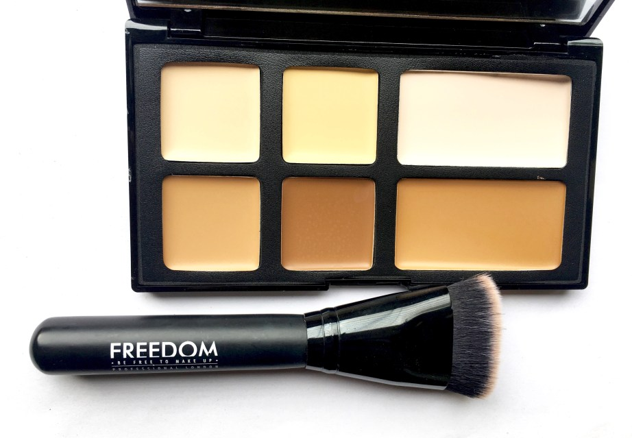 Freedom Pro Cream Strobe Palette with Brush Review Swatches