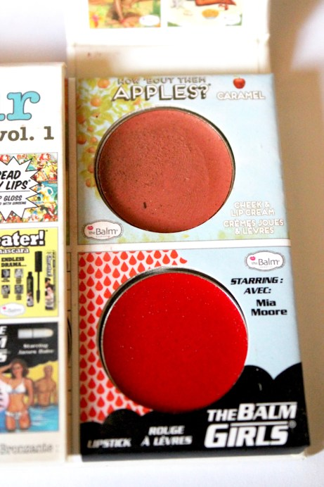 In the Balm of Your Hand Palette Review Swatches Caramel Cream Cheek Stain Mia Moore Cream Lip Stain