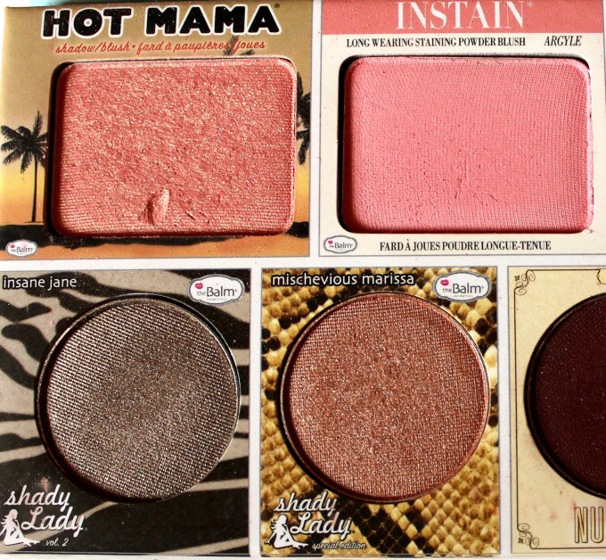 In the Balm of Your Hand Palette Review Swatches Hot Mama Instain Shadey Lady Insane Jane Mischevious Marissa