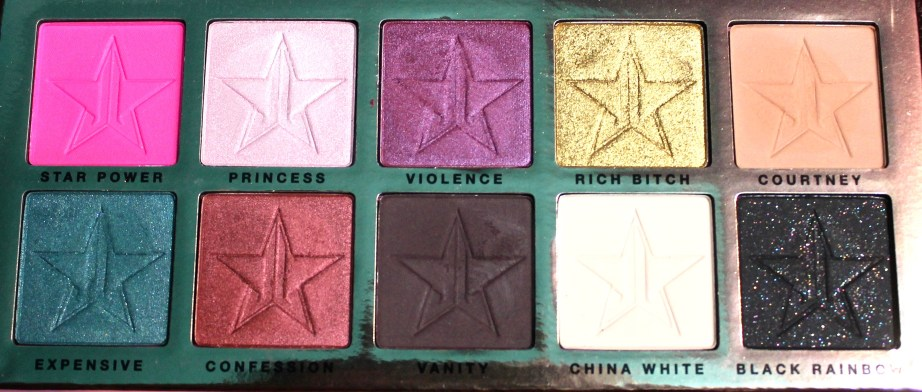 Jeffree Star Beauty Killer Palette Review Swatches all shades