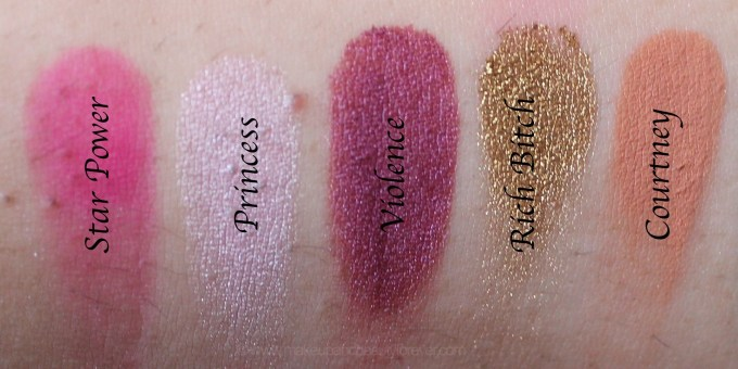 Jeffree Star Beauty Killer Palette Review Swatches star power princess violence rich gold courtney mbf