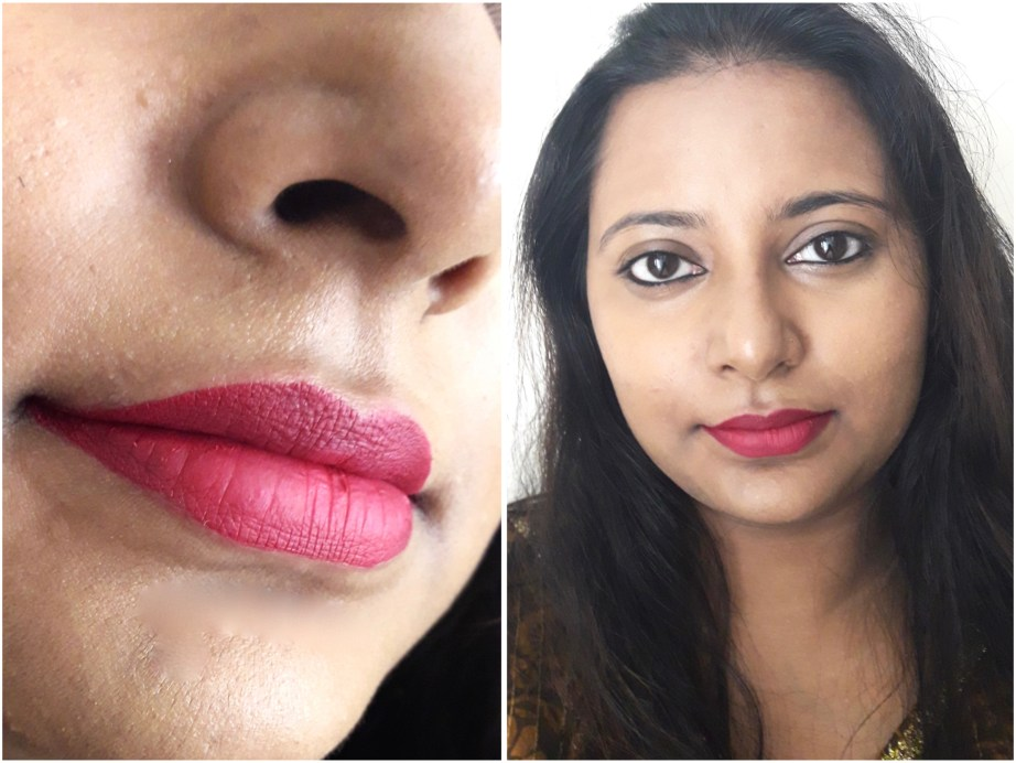 Milani Amore Matte Lip Creme Gorgeous Review Swatches MBF Makeup Look