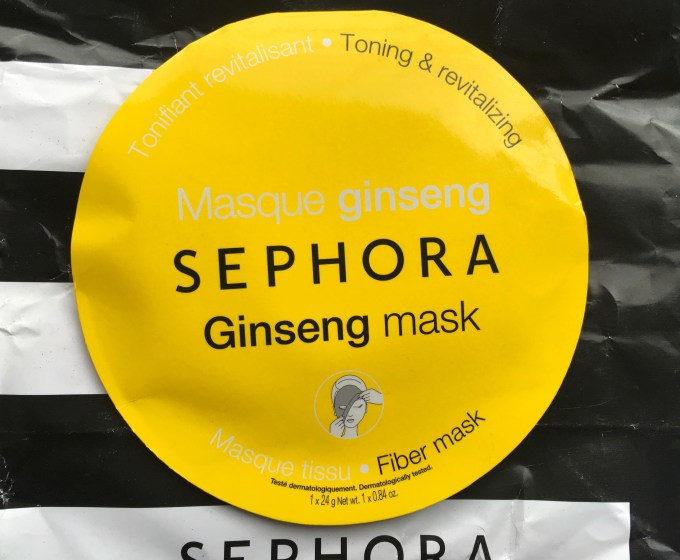 Sephora Ginseng Sheet Fiber Mask Review