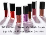 All Smashbox Always On Matte Liquid Lipsticks 20 Shades Review, Swatches