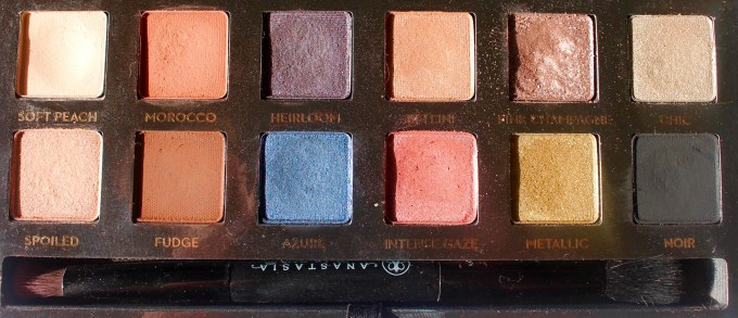 Anastasia Shadow Couture World Traveler EyeShadow Palette Review Swatches clear