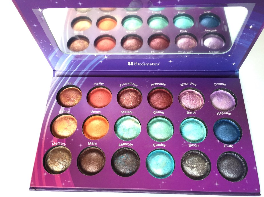 BH Cosmetics Galaxy Chic Baked Eyeshadow Palette Review Swatches Blog