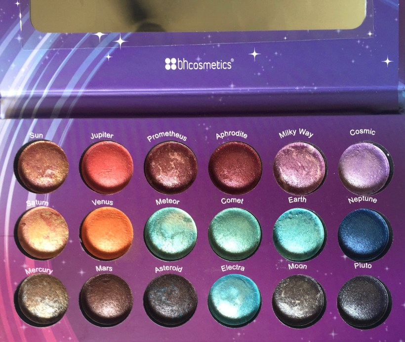 BH Cosmetics Galaxy Chic Baked Eyeshadow Palette Review Swatches focus