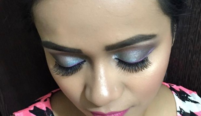 BH Cosmetics Galaxy Chic Baked Eyeshadow Palette Review Swatches MBF Eye Makeup Look
