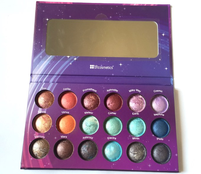 BH Cosmetics Galaxy Chic Baked Eyeshadow Palette Review Swatches MBF